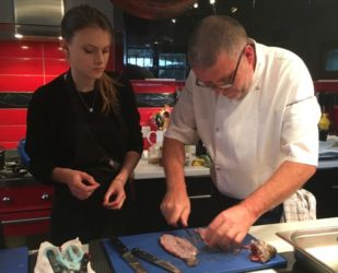 Laurent and Ashley filleting