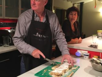 Mille feuille - John cutting up